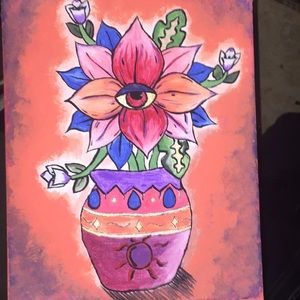 Other - Third Eye Flower Pot Painting